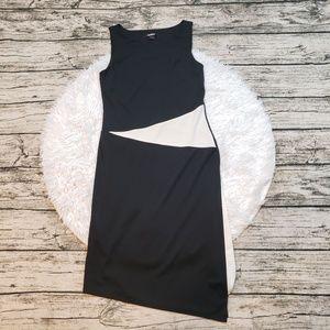 Express Women's Asymmetrical Black and White Dress